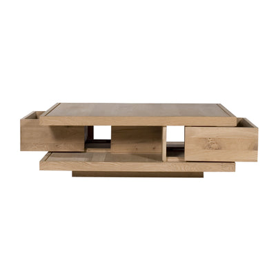 Oak Flat Coffee Table - Square