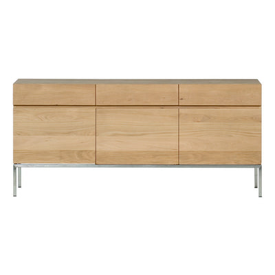 Oak Ligna Sideboard 3 Doors 3 Drawers