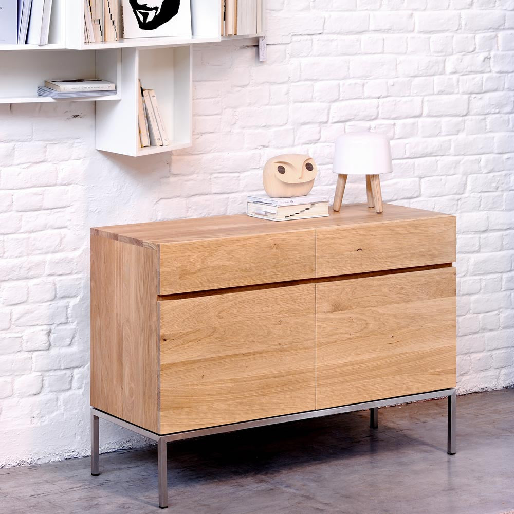 Oak Ligna Sideboard 2 Doors 2 Drawers