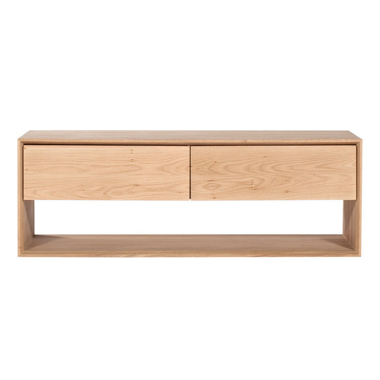 Oak Nordic Entertainment Unit 120cm