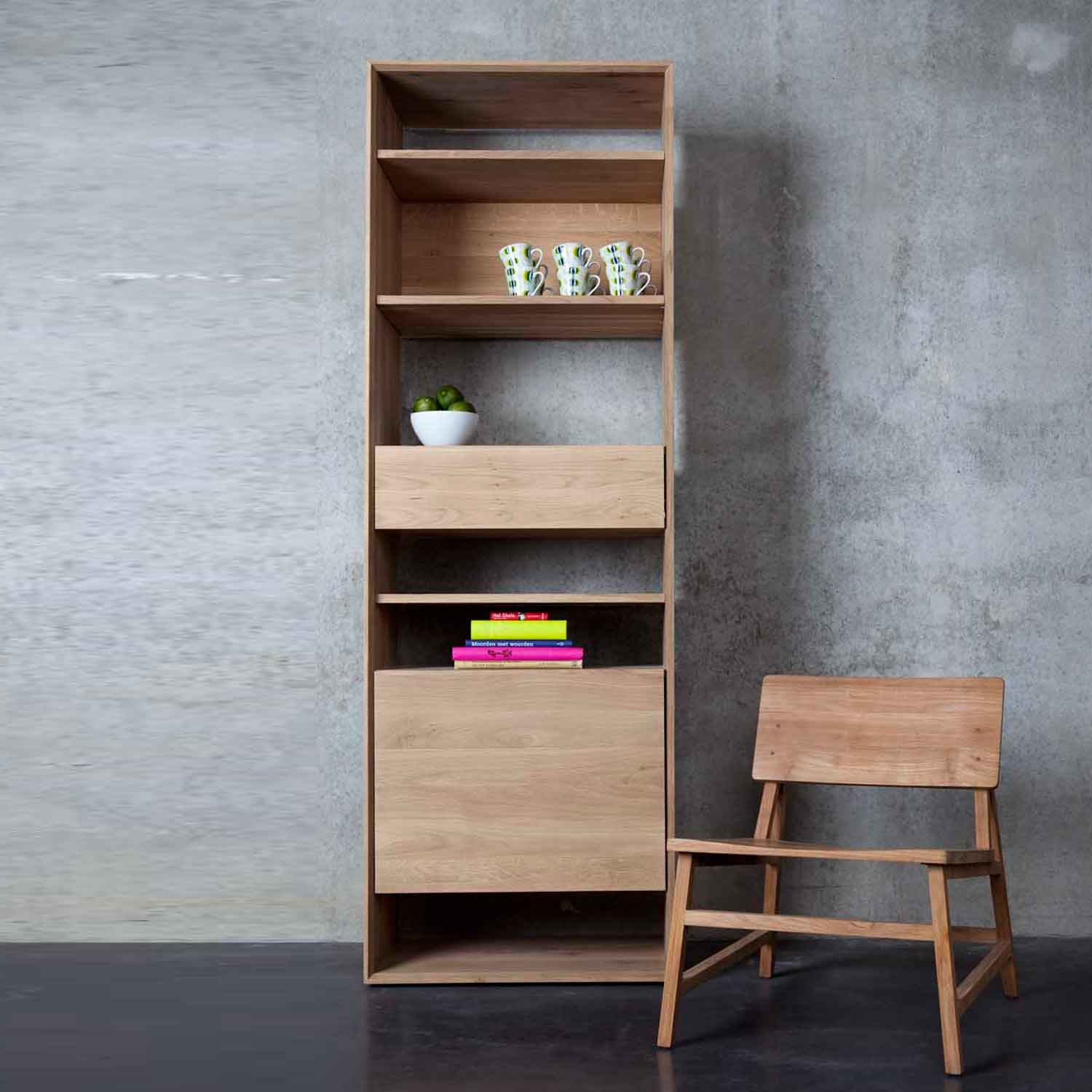 living medium fsl bookcases oak constance bookcase dimensions quercus