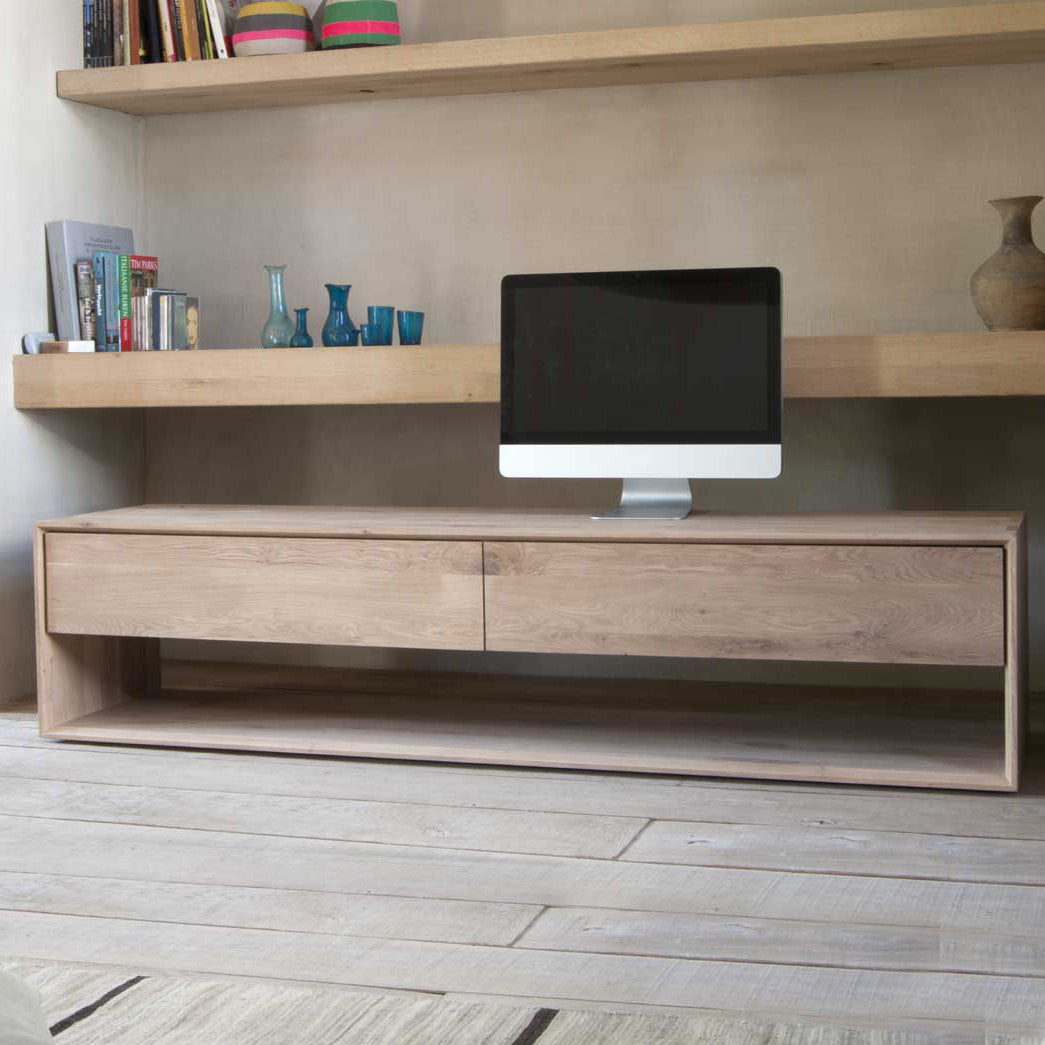 Oak Nordic Entertainment Unit 180cm
