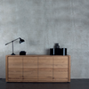 Oak Shadow Sideboard 4 Doors