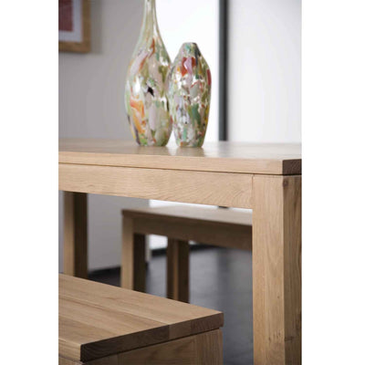 Oak Straight Dining Table