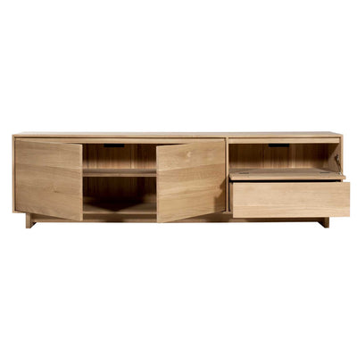 Oak Wave Entertainment Unit