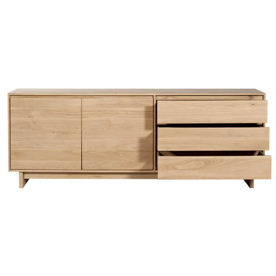 Oak Wave Sideboard 2 Doors 3 Drawers