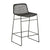 Olivia Open Weave Barstool in Black