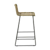 Olivia Open Weave Barstool in Greywash