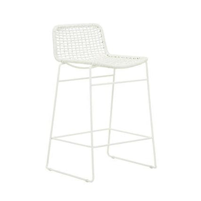 Olivia Open Weave Barstool in White
