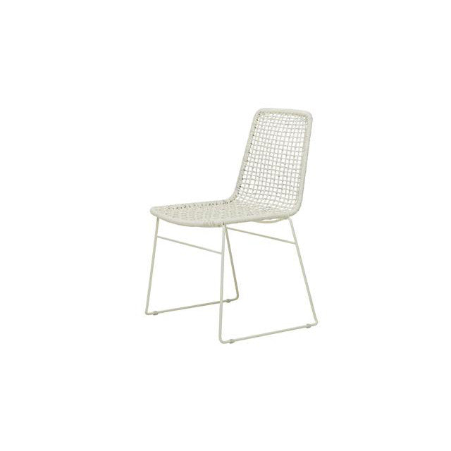 Olivia Open Weave Dining Chair in White