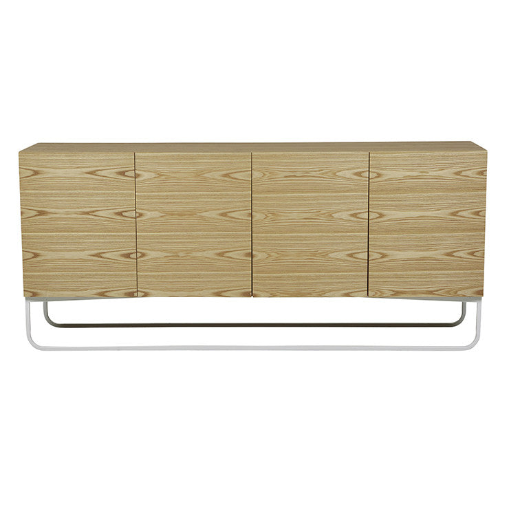 Otis Sideboard - Natural Ash/White
