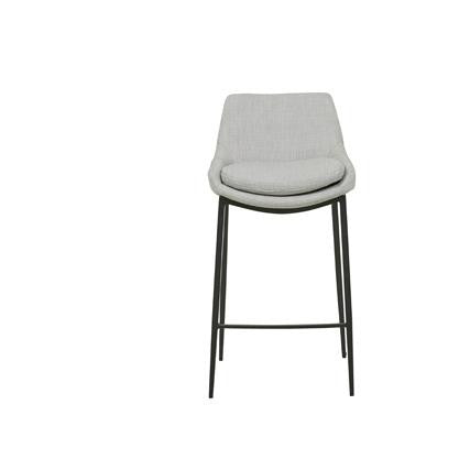 Pepper Barstool - Fabric Pearl Grey Upholstery