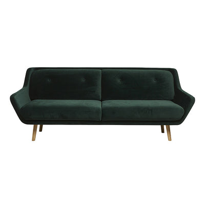 Pert 3 Seater Sofa in Pine Green Velvet