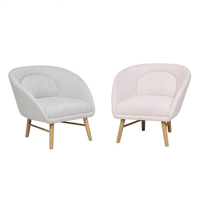 Pod Occasional Chair - Dove and Pink