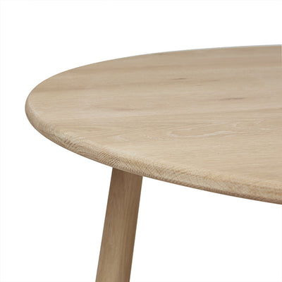 Root Round Dining Table in Light Oak