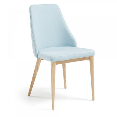 Roxie Quilted Dining Chair in Light Blue