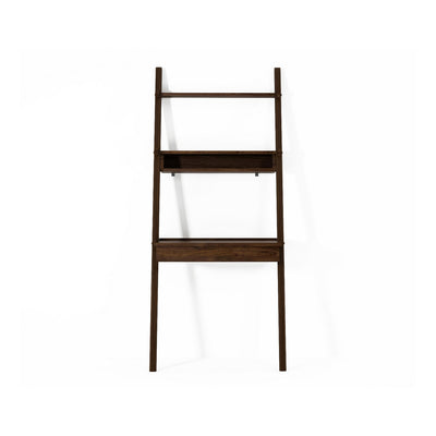 Simply City Ladder With Drawer Desk & Niche in Walnut