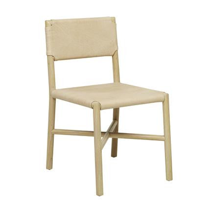 Seed Flat Leather Dining Chair