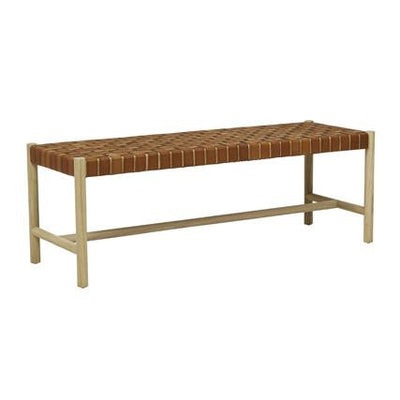 Seed Terracotta Leather Bench Seat