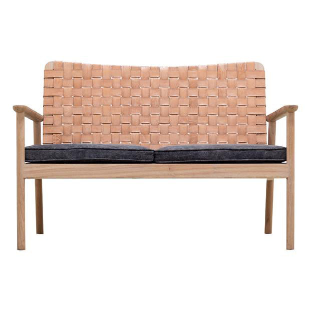 Seed Leather Love Seat