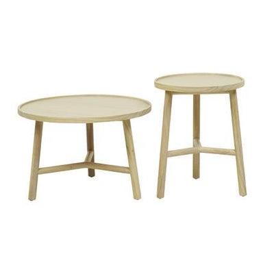 Seed Round Set of 2 Side Tables in Drift