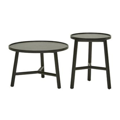 Seed Round Set of 2 Side Tables in Ebony