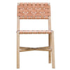 Seed Woven Leather Dining Chair in Natural