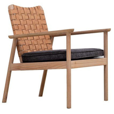 Seed Leather Occasional Chair in Natural