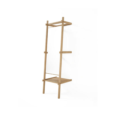 Simply City Standing Mirror and Shelf in Teak
