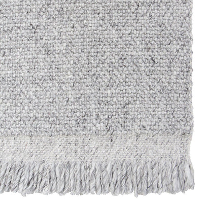 Skagen Fringe Rug in Silver by Tribe Home
