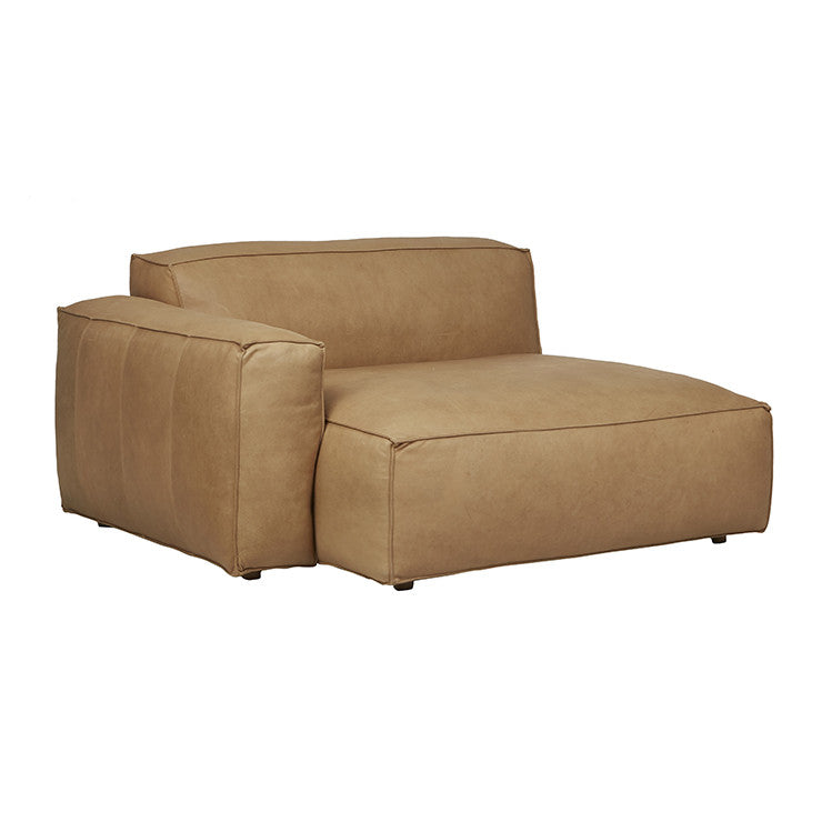 Miller Left Chaise Sofa in Camel