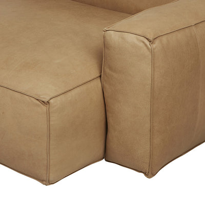 Miller Right Chaise Sofa in Camel