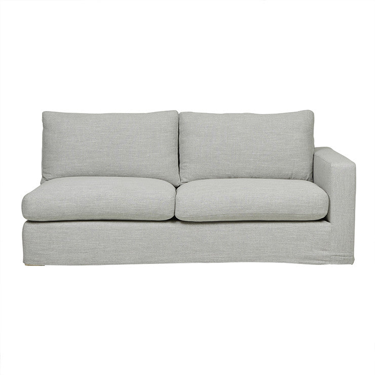 Slipcover 2 Seater Right Arm Sofa in Dove