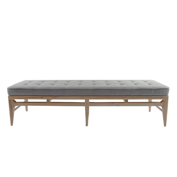 Sofia Ottoman Light Grey