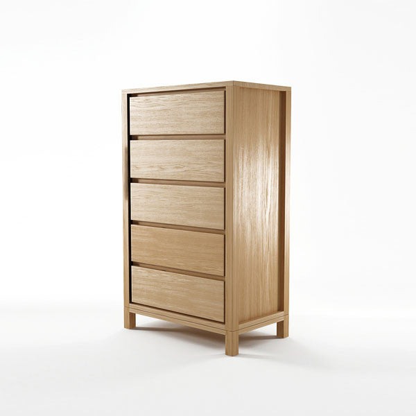 Solid Chest 5 Drawers in European White Oak