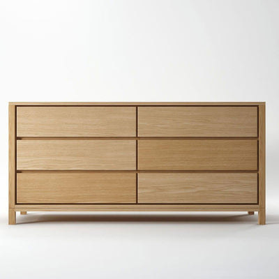 Solid Chest 6 Drawers in European White Oak