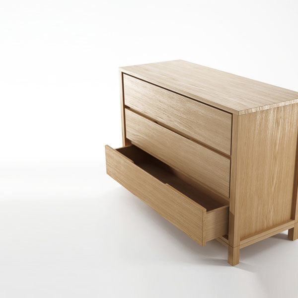 Solid Chest 3 Drawers in European White Oak