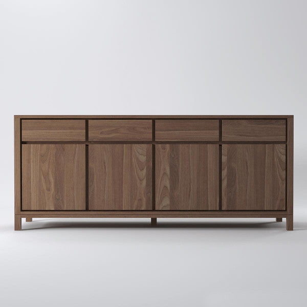 Solid 4 Door 4 Drawer Sideboard