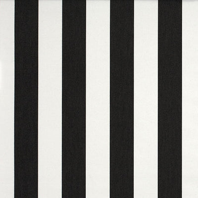 Deckchair with Arms (Teak) - Sunbrella Charcoal/White Block Stripe