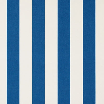 Deckchair with Arms (Teak) - Sunbrella Royal Blue/White Block Stripe