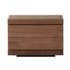 Teak Burger Freestanding Bedside Table