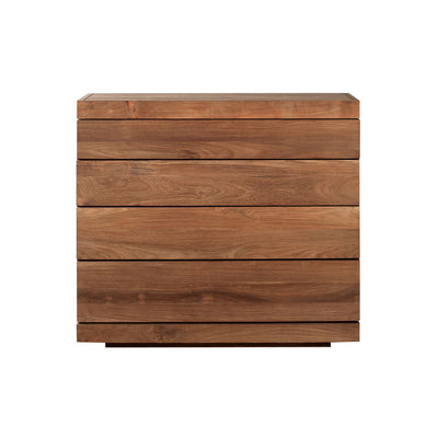 Teak Burger Chest of 4 Drawers