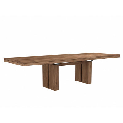 Teak Double Extending Dining Table