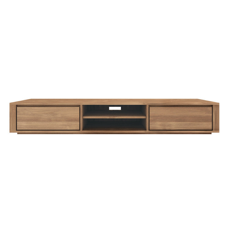 Teak Elemental Entertainment Unit 2 Drawers