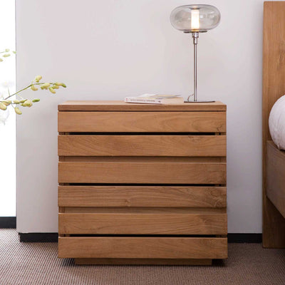 Teak Horizon Bedside Table