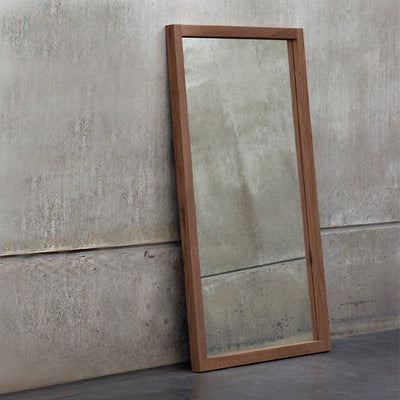Teak Light Frame Mirror