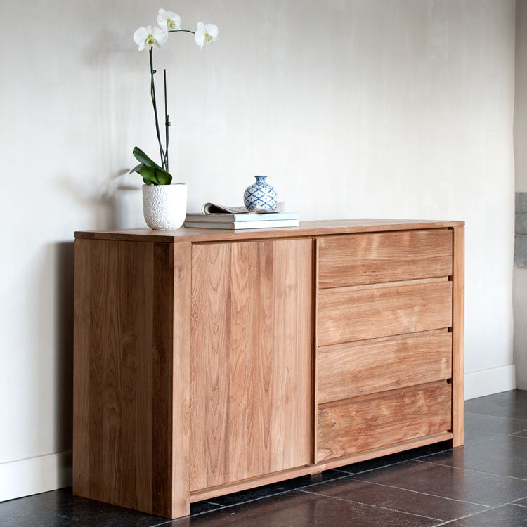 Teak Lodge Sideboard 1 Door 3 Drawers