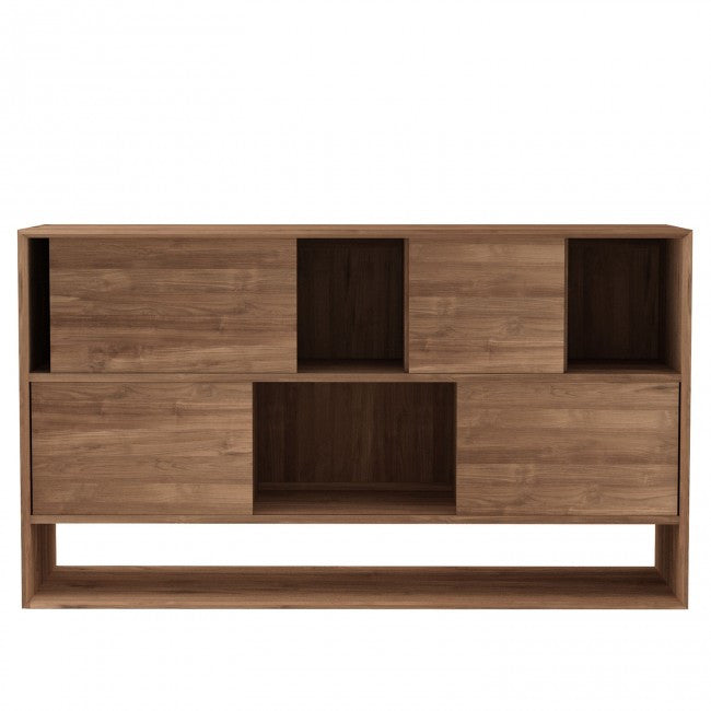 Teak Nordic 4 Door Low Rack  sc 1 st  Volume Furniture & Ethnicraft Teak Nordic Low Rack | Furniture Melbourne - Volume Furniture