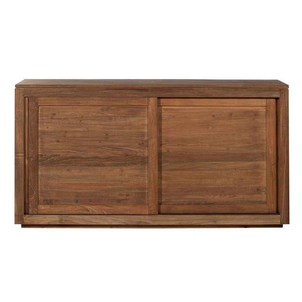 Teak Pure Sideboard 2 Sliding Doors
