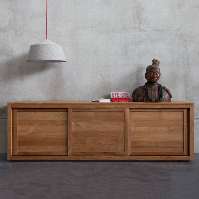 Teak Pure Sideboard 3 Sliding Doors